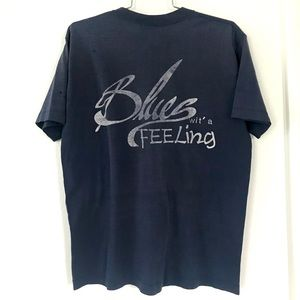 Vintage 1980's Blues Wit a Feeling T-shirt tee